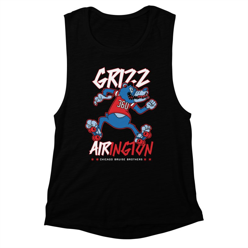 Skater Series: Grizz AIRington Women's Muscle Tank by Chicago Bruise Brothers Roller Derby