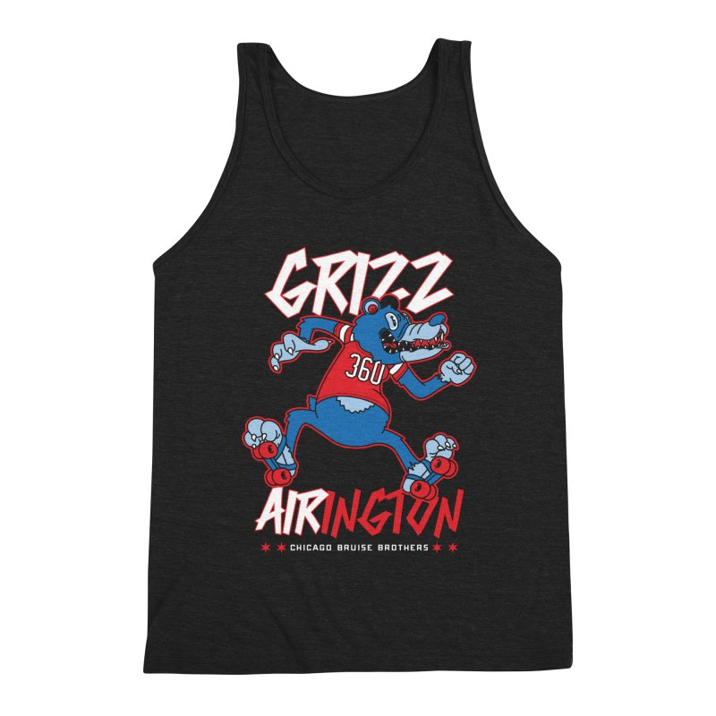 Skater Series: Grizz AIRington Men's Triblend Tank by Chicago Bruise Brothers Roller Derby