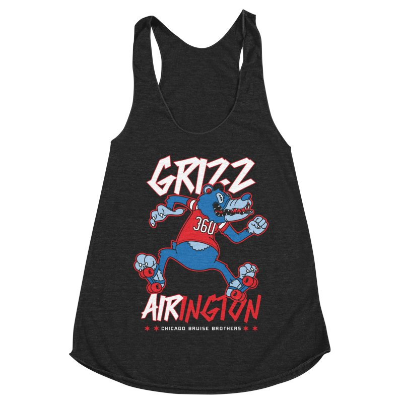 Skater Series: Grizz AIRington Women's Racerback Triblend Tank by Chicago Bruise Brothers Roller Derby
