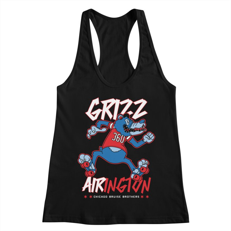 Skater Series: Grizz AIRington Women's Racerback Tank by Chicago Bruise Brothers Roller Derby