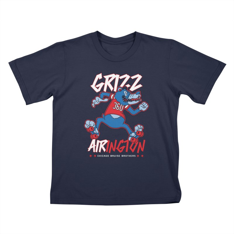 Skater Series: Grizz AIRington Kids T-Shirt by Chicago Bruise Brothers Roller Derby