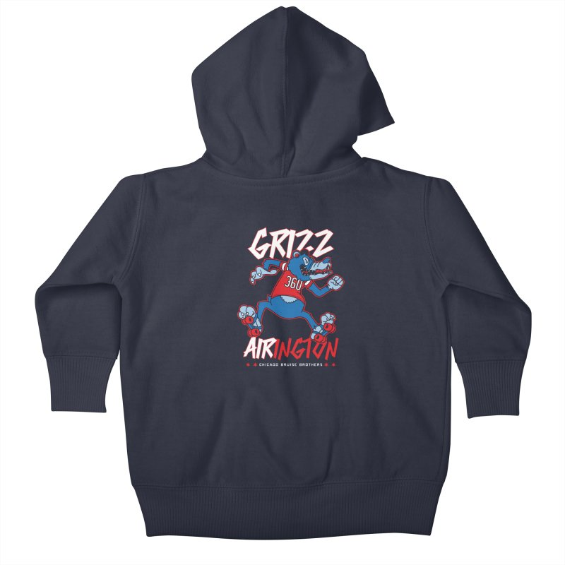 Skater Series: Grizz AIRington Kids Baby Zip-Up Hoody by Chicago Bruise Brothers Roller Derby