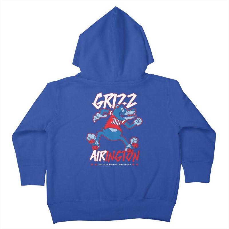 Skater Series: Grizz AIRington Kids Toddler Zip-Up Hoody by Chicago Bruise Brothers Roller Derby