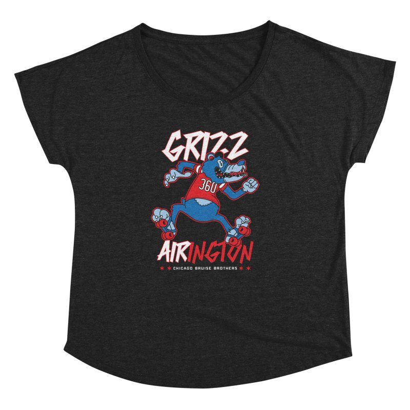 Skater Series: Grizz AIRington Women's Dolman Scoop Neck by Chicago Bruise Brothers Roller Derby