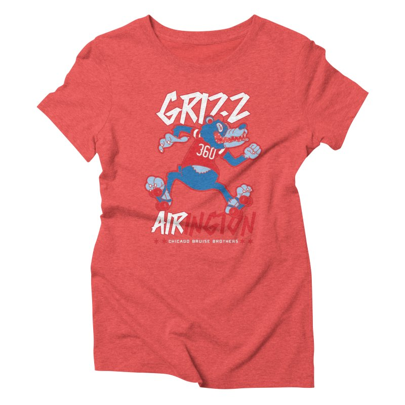 Skater Series: Grizz AIRington Women's Triblend T-Shirt by Chicago Bruise Brothers Roller Derby
