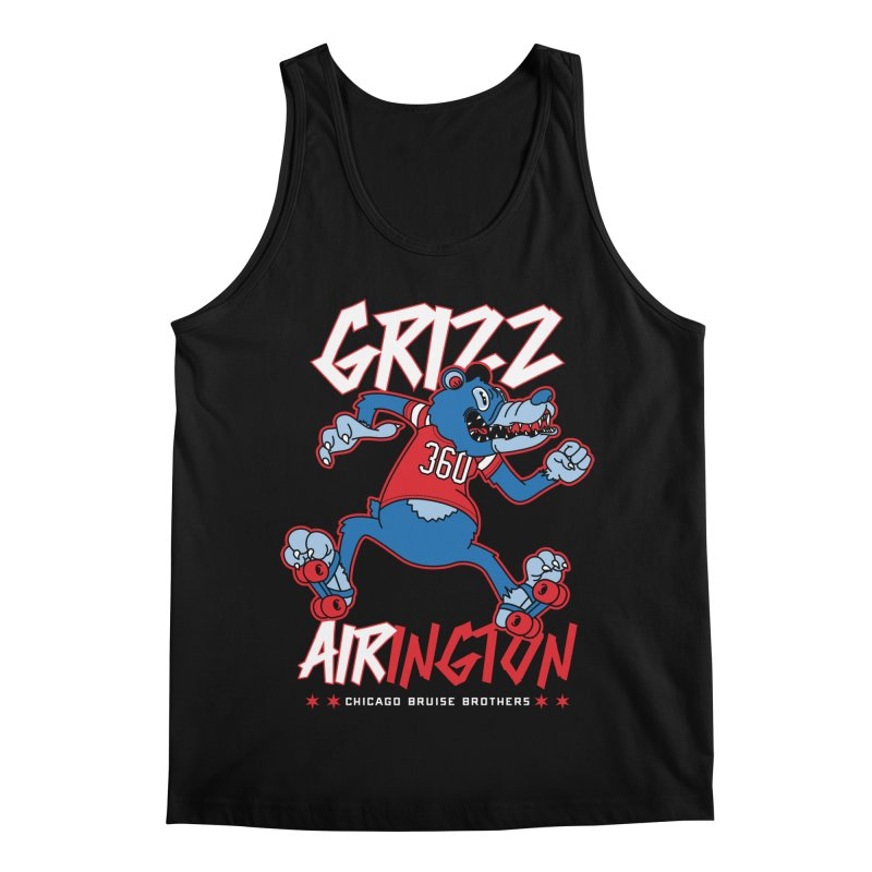Skater Series: Grizz AIRington Men's Regular Tank by Chicago Bruise Brothers Roller Derby
