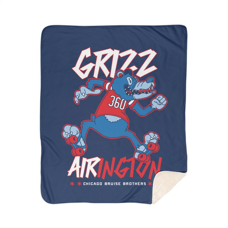 Skater Series: Grizz AIRington Home Blanket by Chicago Bruise Brothers Roller Derby
