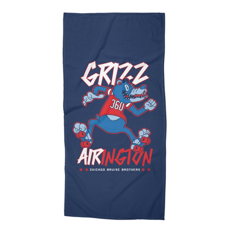 Skater Series: Grizz AIRington Accessories Beach Towel by Chicago Bruise Brothers Roller Derby