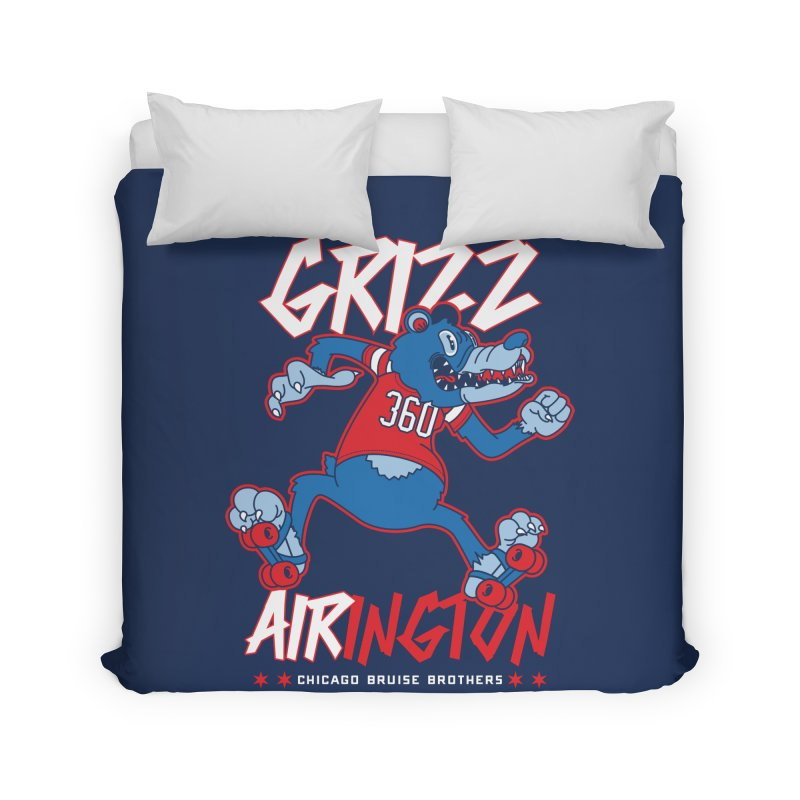 Skater Series: Grizz AIRington Home Duvet by Chicago Bruise Brothers Roller Derby