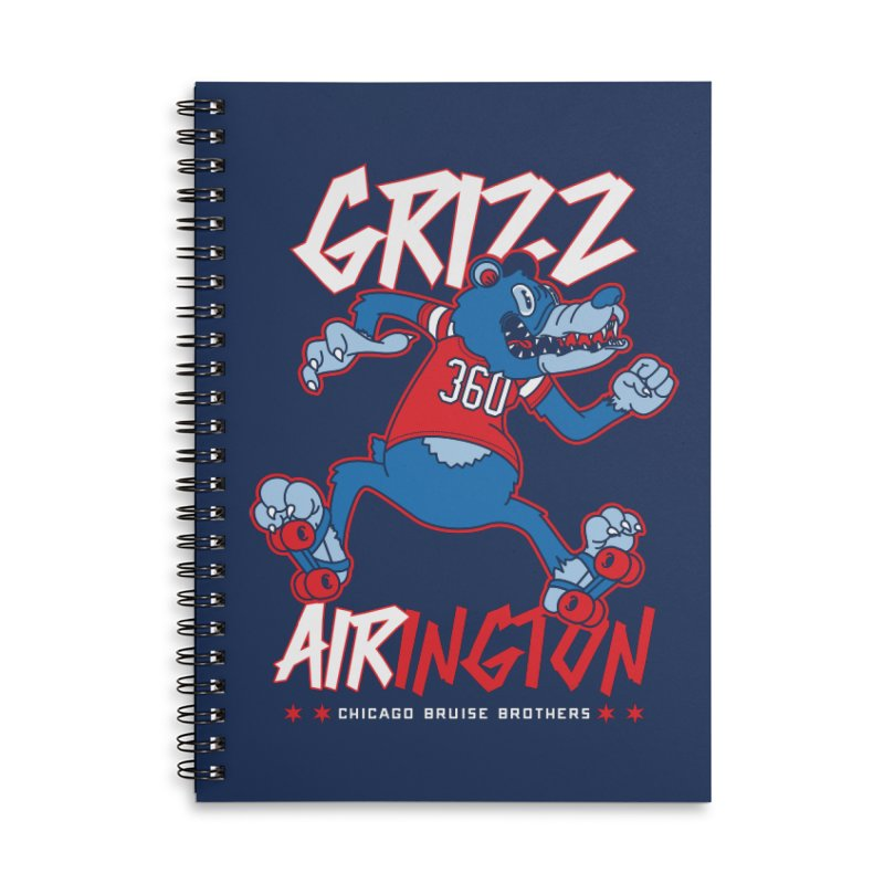 Skater Series: Grizz AIRington Accessories Notebook by Chicago Bruise Brothers Roller Derby