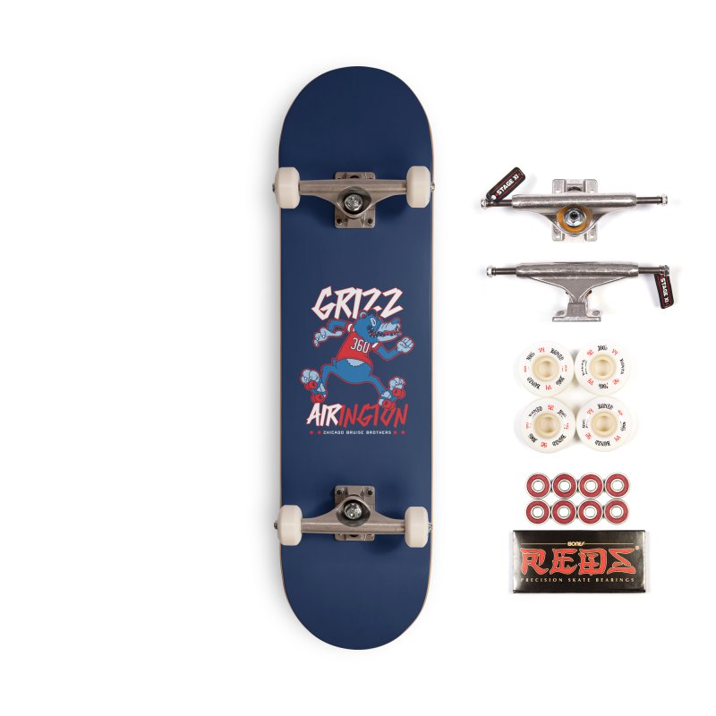 Skater Series: Grizz AIRington Accessories Skateboard by Chicago Bruise Brothers Roller Derby