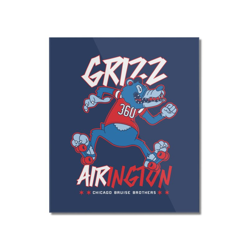 Skater Series: Grizz AIRington Home Mounted Acrylic Print by Chicago Bruise Brothers Roller Derby
