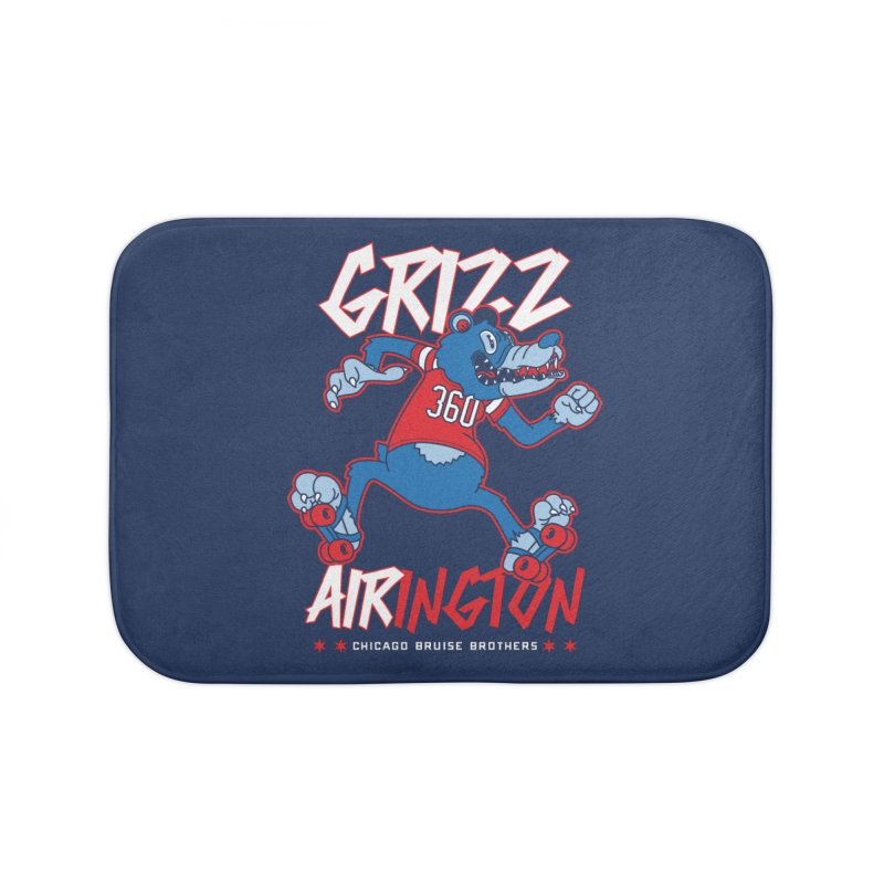 Skater Series: Grizz AIRington Home Bath Mat by Chicago Bruise Brothers Roller Derby