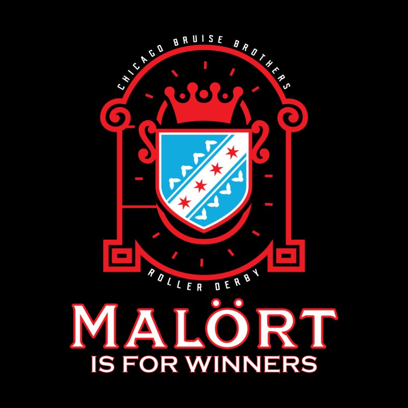 Malört is for Winners Men's T-Shirt by Chicago Bruise Brothers Roller Derby