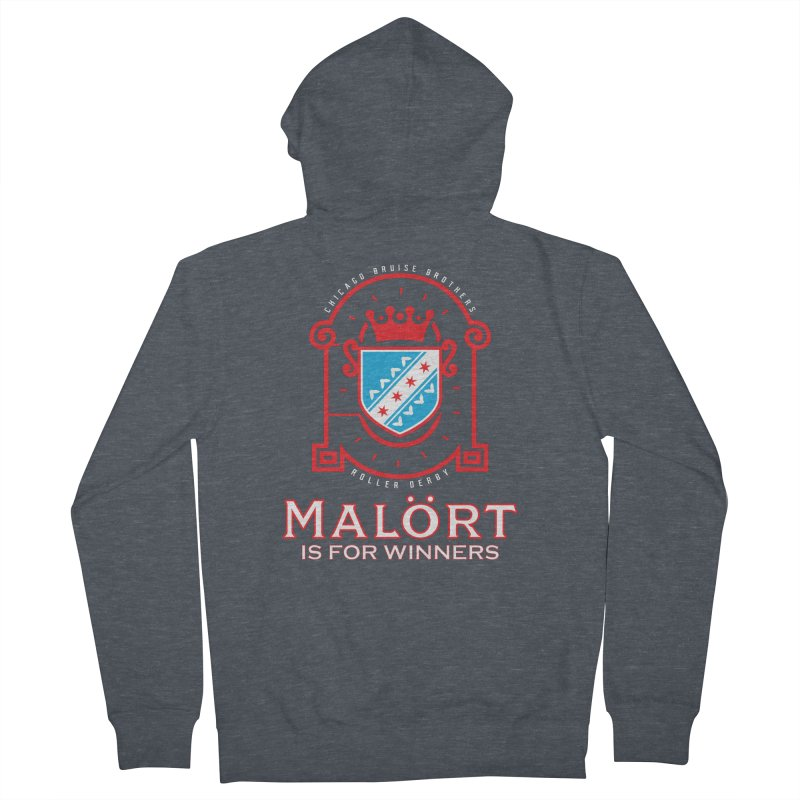 Malört is for Winners Women's French Terry Zip-Up Hoody by Chicago Bruise Brothers Roller Derby