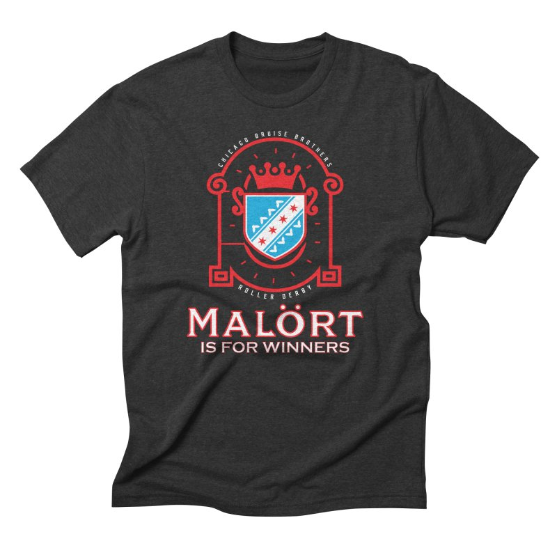 Malört is for Winners Men's Triblend T-Shirt by Chicago Bruise Brothers Roller Derby
