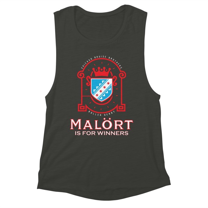 Malört is for Winners Women's Muscle Tank by Chicago Bruise Brothers Roller Derby