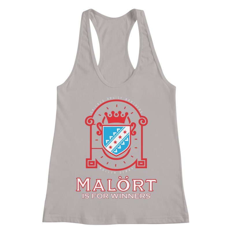Malört is for Winners Women's Racerback Tank by Chicago Bruise Brothers Roller Derby