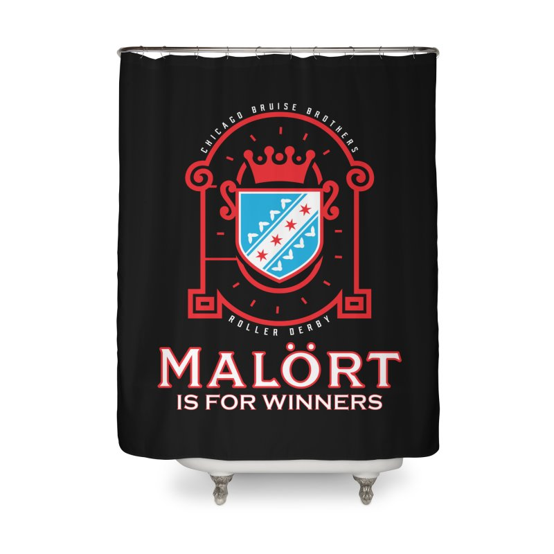 Malört is for Winners Home Shower Curtain by Chicago Bruise Brothers Roller Derby