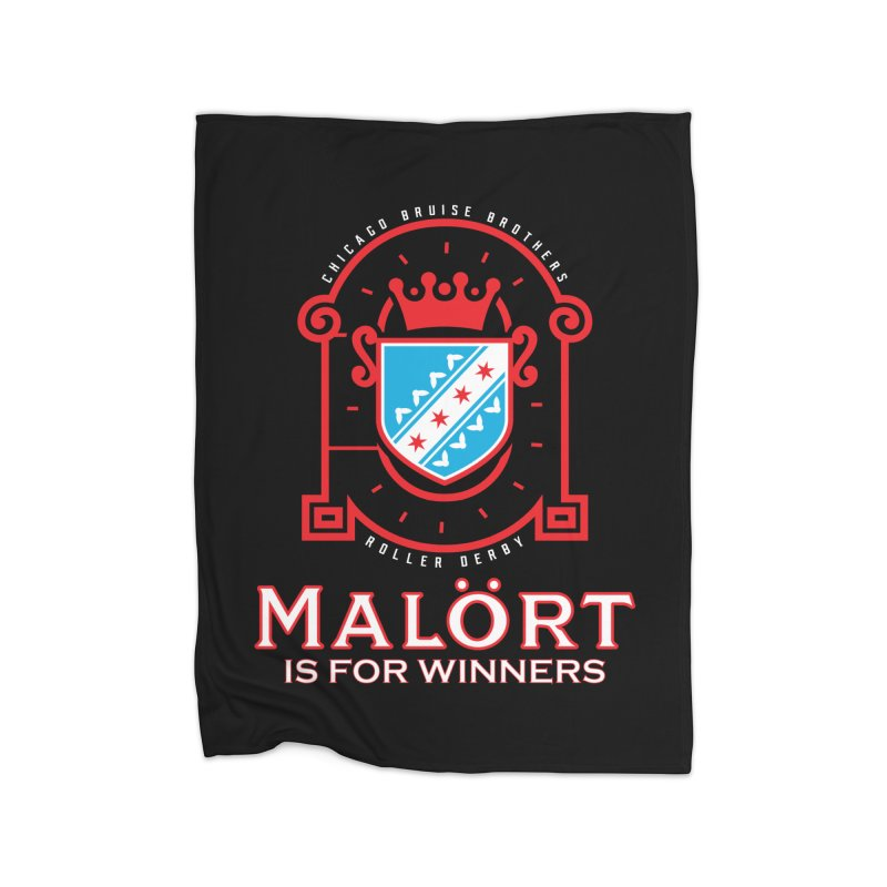 Malört is for Winners Home Fleece Blanket Blanket by Chicago Bruise Brothers Roller Derby