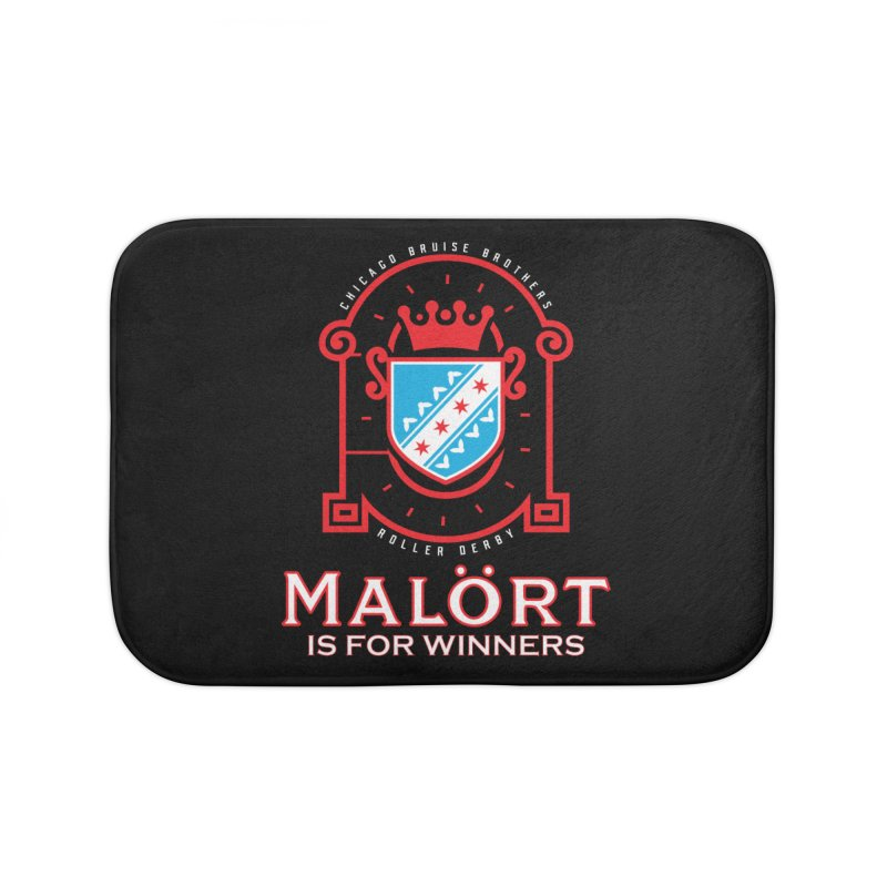 Malört is for Winners Home Bath Mat by Chicago Bruise Brothers Roller Derby