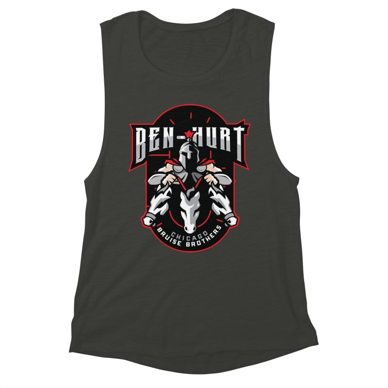 Skater Series: Ben-Hurt Women's Muscle Tank by Chicago Bruise Brothers Roller Derby