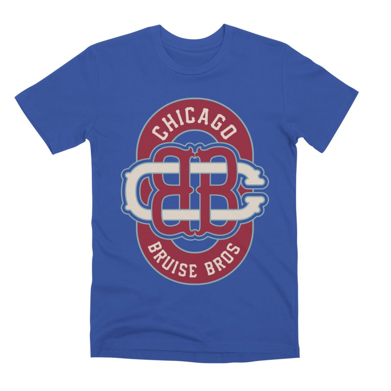 Fauxback - Winter Classic Style Men's T-Shirt by Chicago Bruise Brothers Roller Derby