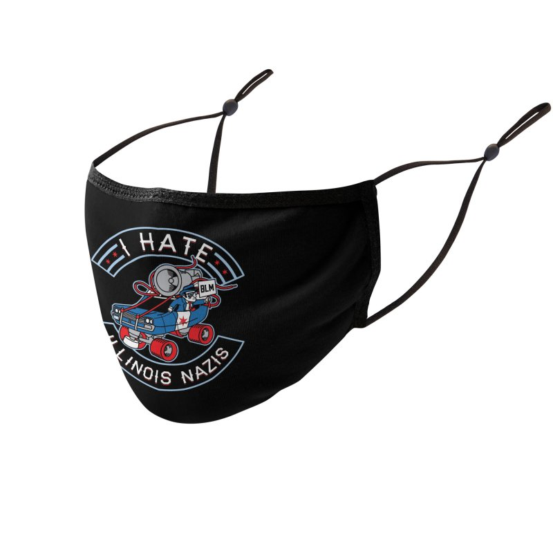 I HATE ILLINOIS NAZIS Accessories Face Mask by Chicago Bruise Brothers Roller Derby