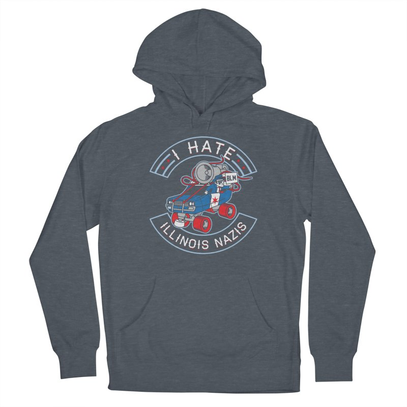 I HATE ILLINOIS NAZIS Women's Pullover Hoody by Chicago Bruise Brothers Roller Derby