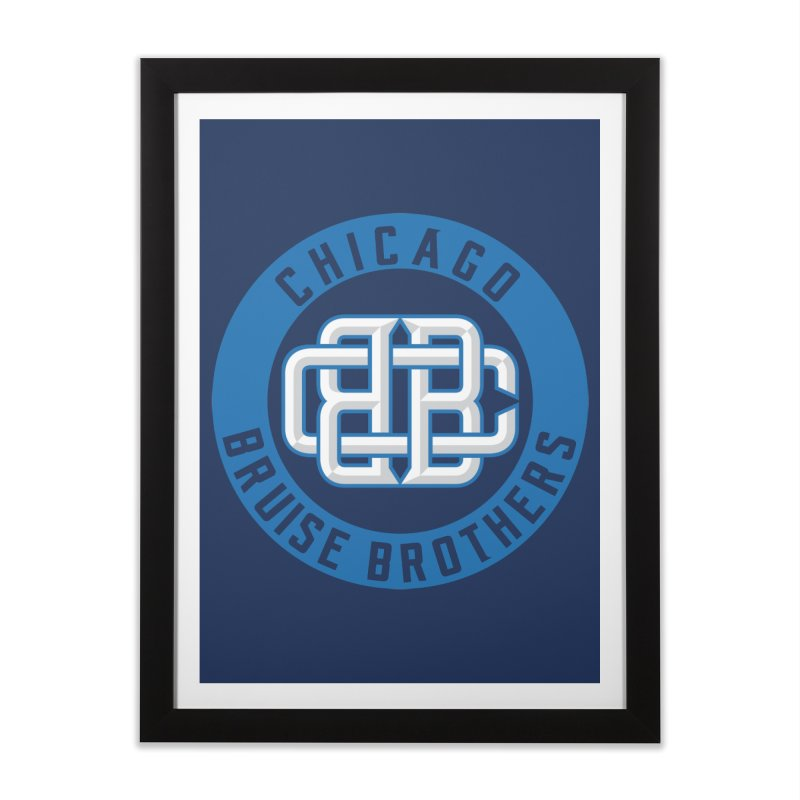 CBB Home Framed Fine Art Print by Chicago Bruise Brothers Roller Derby