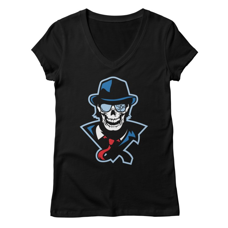 Bones and Bruises Women's V-Neck by Chicago Bruise Brothers Roller Derby