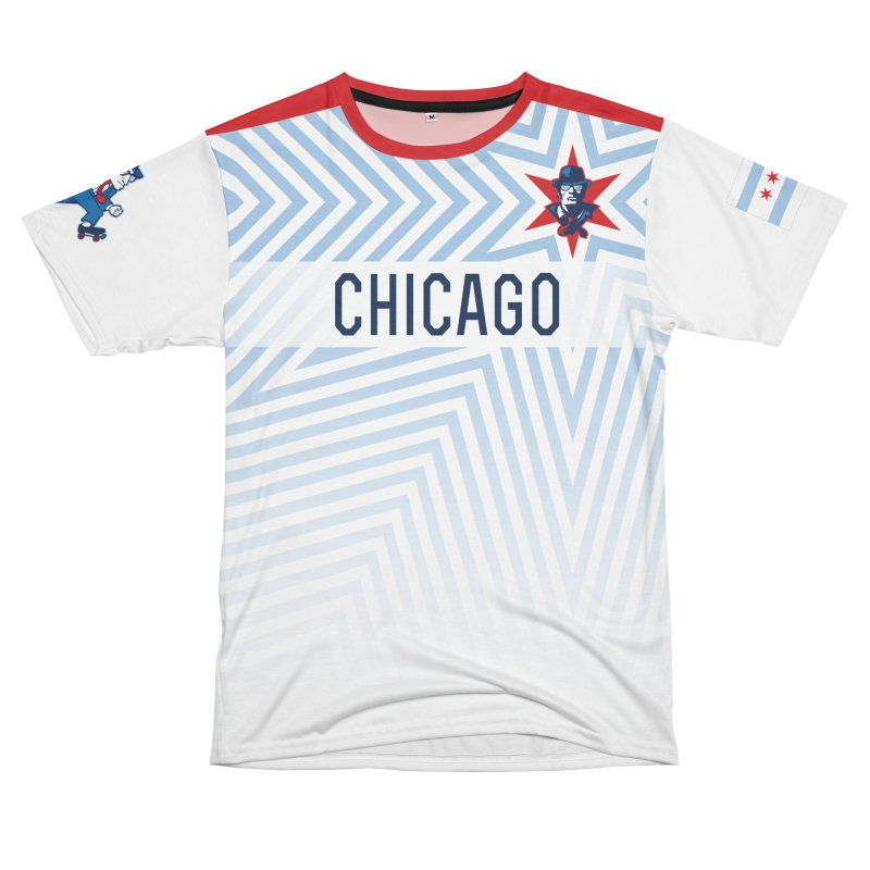 White & Blue Stripes Men's Cut & Sew by Chicago Bruise Brothers Roller Derby