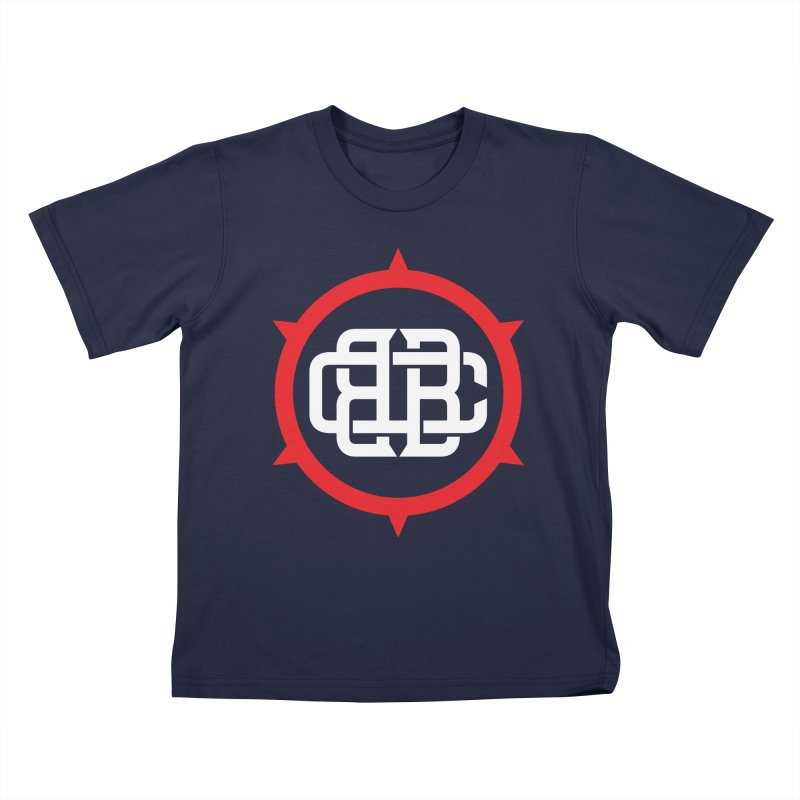 Secondary Crest Kids T-Shirt by Chicago Bruise Brothers Roller Derby