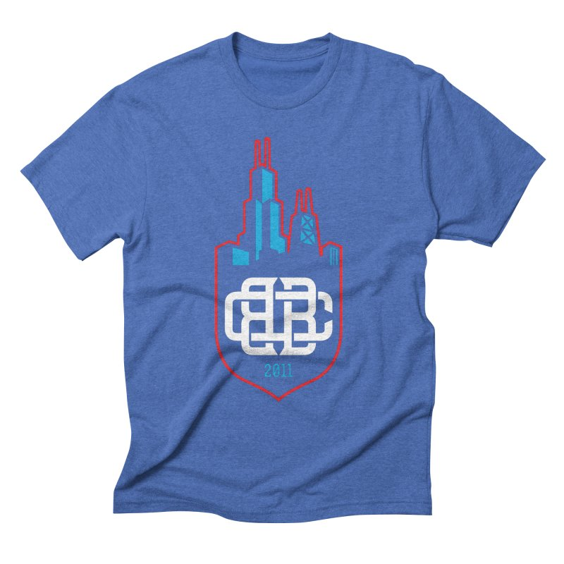 CBB Badge Men's T-Shirt by Chicago Bruise Brothers Roller Derby