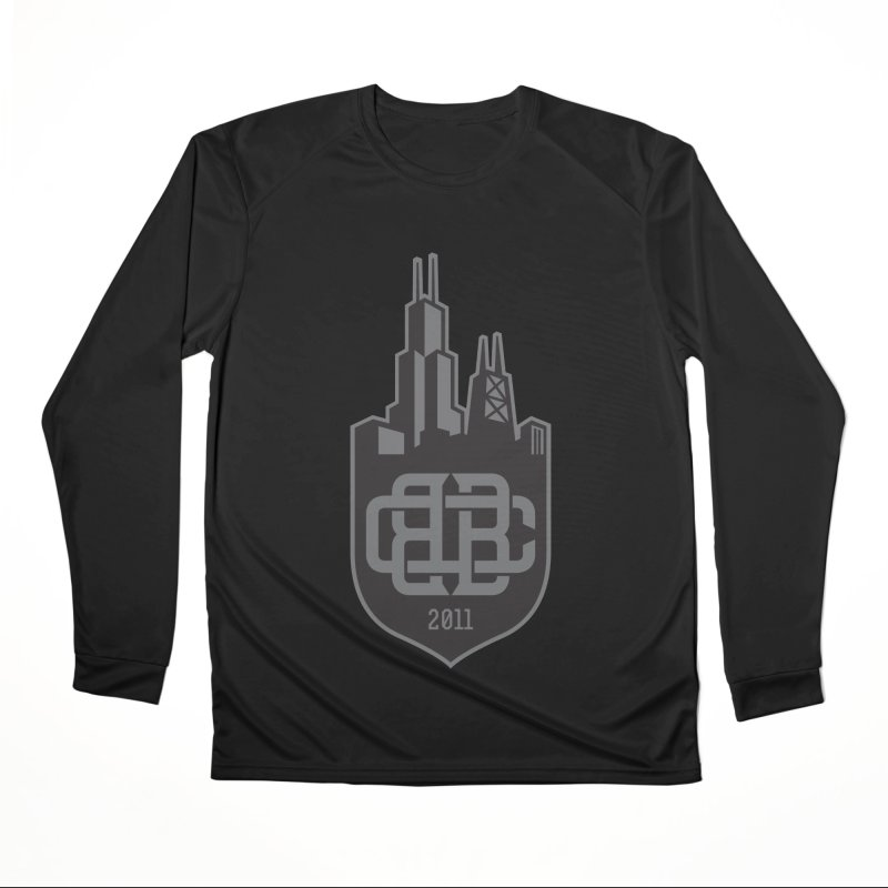Midnight Crest Men's Longsleeve T-Shirt by Chicago Bruise Brothers Roller Derby