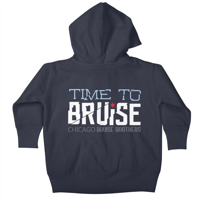 Time to Bruise Kids Baby Zip-Up Hoody by Chicago Bruise Brothers Roller Derby