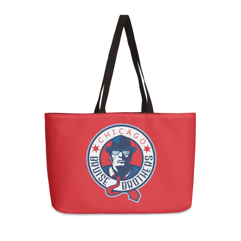 Bruise Brothers (Primary Logo) Accessories Weekender Bag Bag by Chicago Bruise Brothers Roller Derby