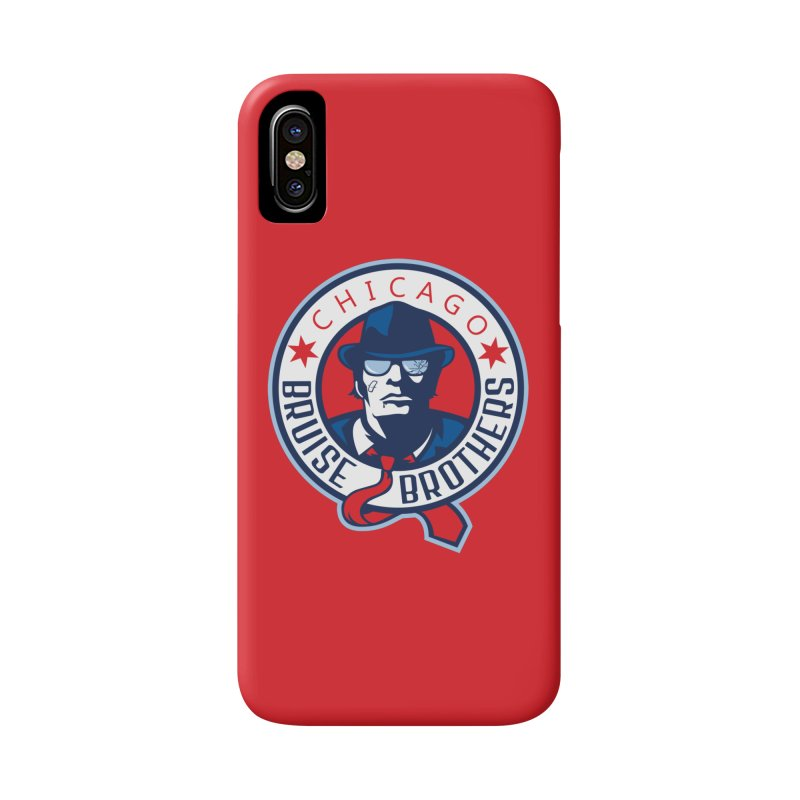 Bruise Brothers (Primary Logo) Accessories Phone Case by Chicago Bruise Brothers Roller Derby