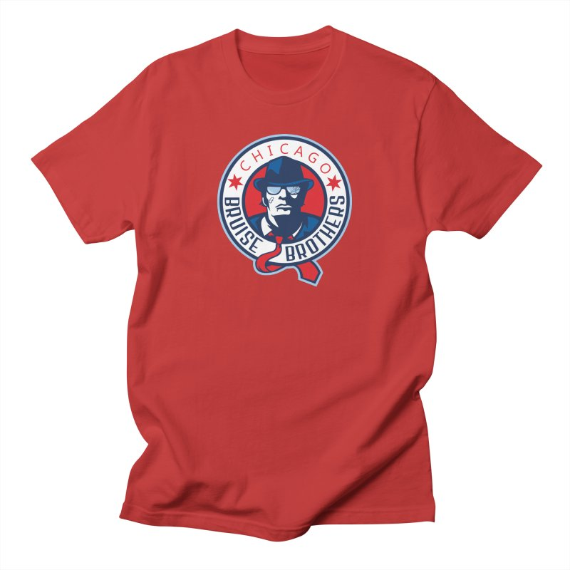 Bruise Brothers (Primary Logo) in Men's Regular T-Shirt Red by Chicago Bruise Brothers Roller Derby