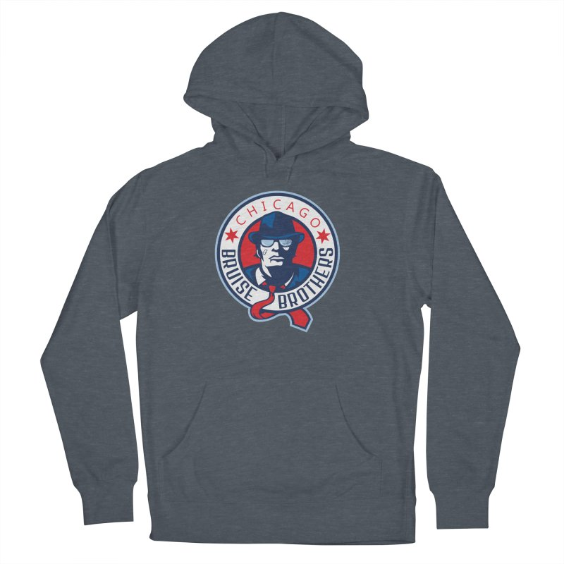 Bruise Brothers (Primary Logo) Men's French Terry Pullover Hoody by Chicago Bruise Brothers Roller Derby