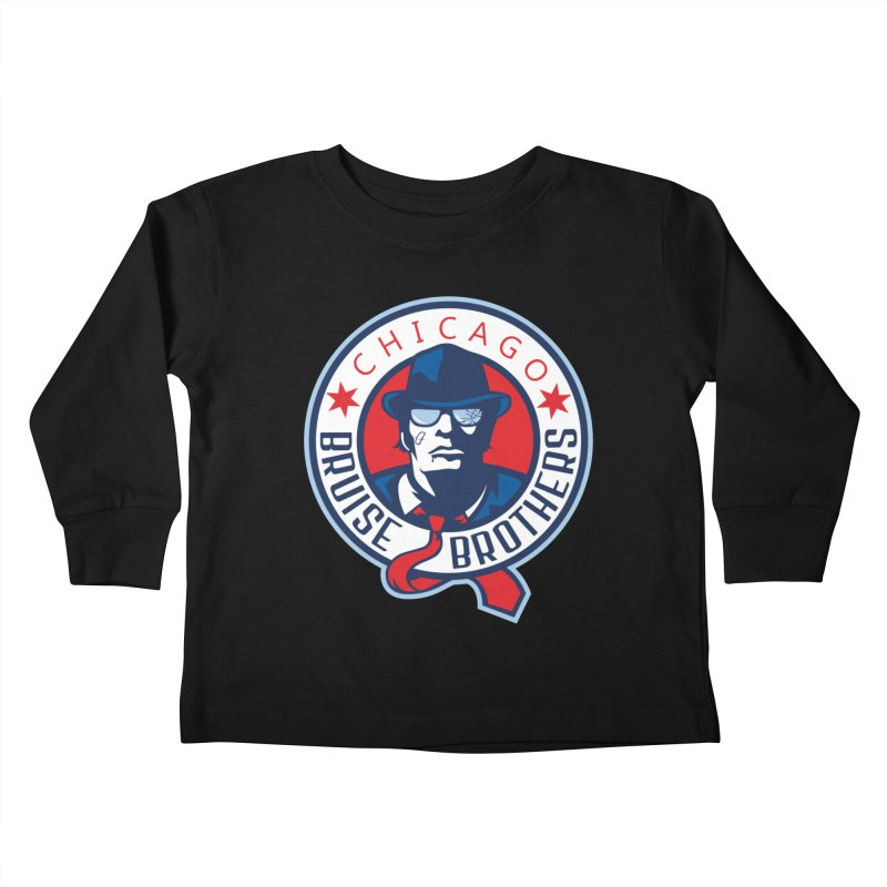 Bruise Brothers (Primary Logo) Kids Toddler Longsleeve T-Shirt by Chicago Bruise Brothers Roller Derby