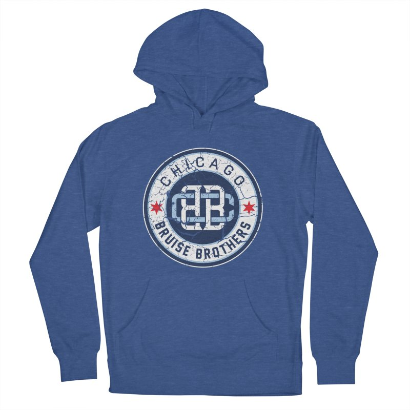 Old School in Men's French Terry Pullover Hoody Heather Royal by Chicago Bruise Brothers Roller Derby