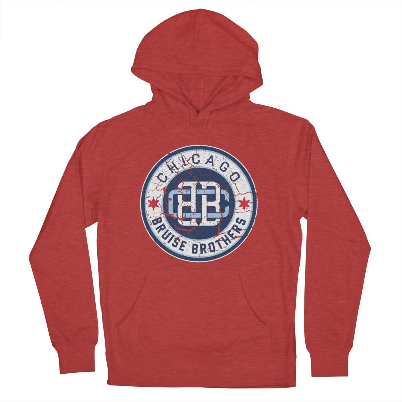 Old School Men's French Terry Pullover Hoody by Chicago Bruise Brothers Roller Derby