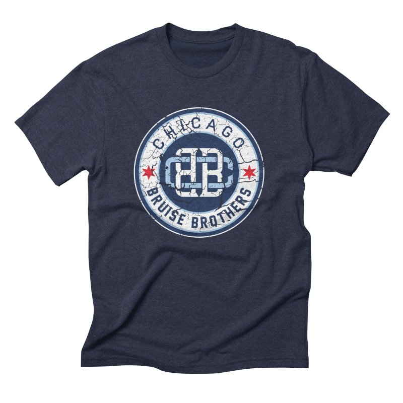 Old School Men's Triblend T-Shirt by Chicago Bruise Brothers Roller Derby