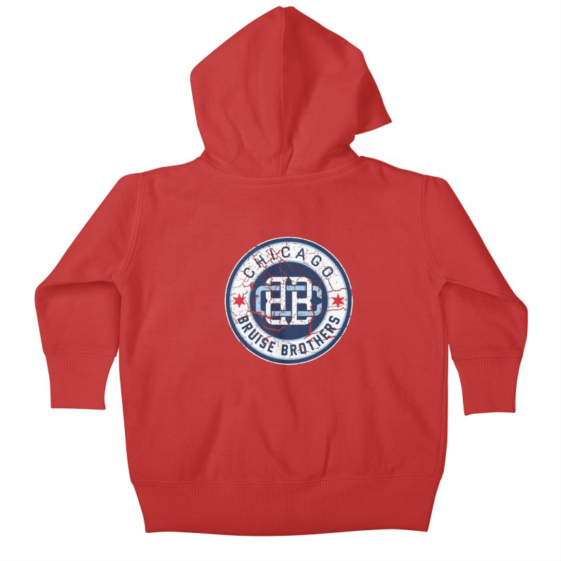 Old School Kids Baby Zip-Up Hoody by Chicago Bruise Brothers Roller Derby