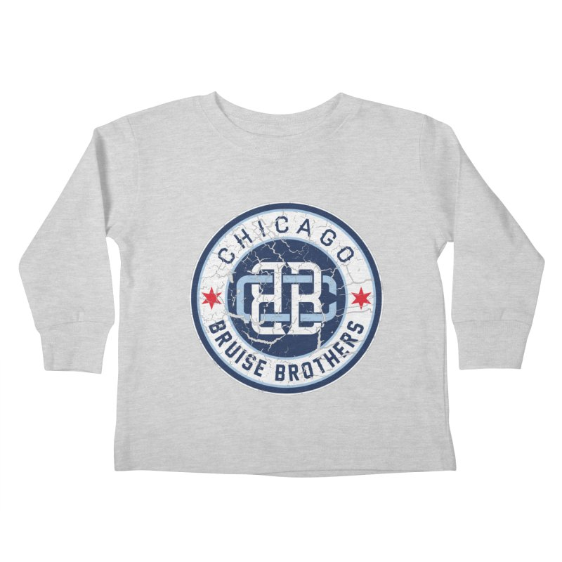 Old School Kids Toddler Longsleeve T-Shirt by Chicago Bruise Brothers Roller Derby