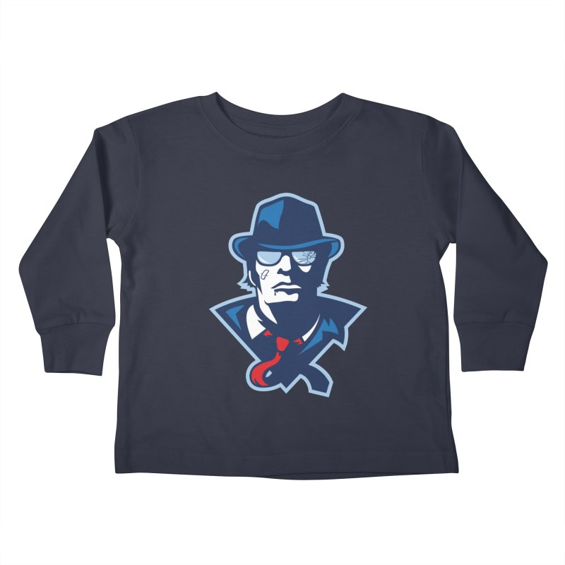 Bruiser Kids Toddler Longsleeve T-Shirt by Chicago Bruise Brothers Roller Derby
