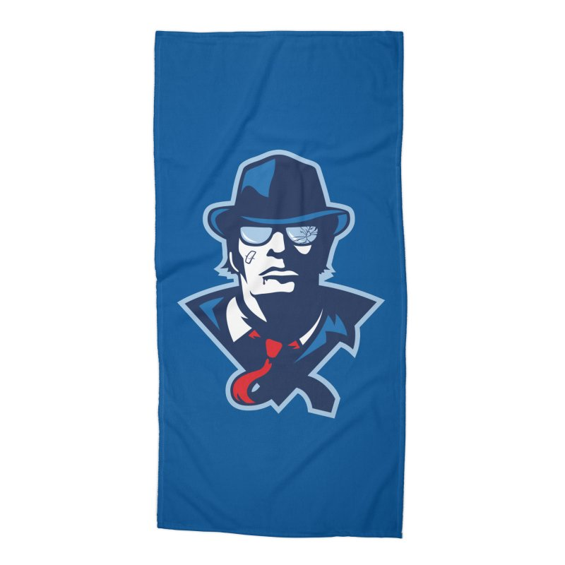 Bruiser Accessories Beach Towel by Chicago Bruise Brothers Roller Derby
