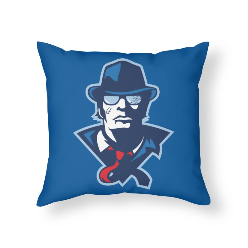 Bruiser Home Throw Pillow by Chicago Bruise Brothers Roller Derby
