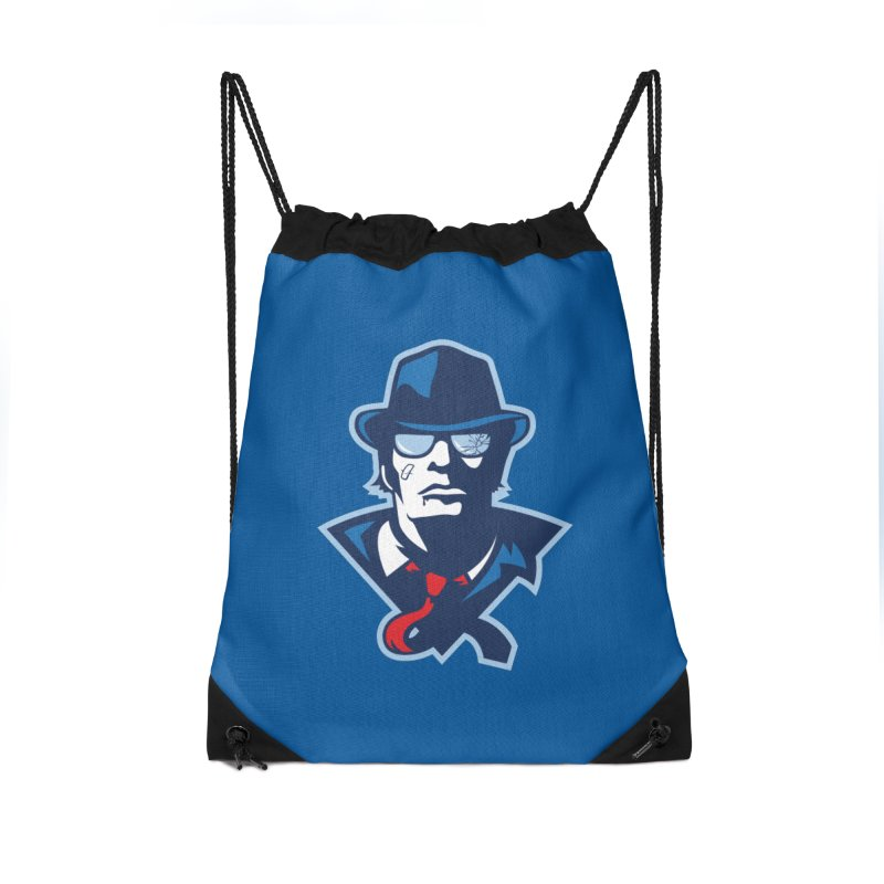 Bruiser Accessories Drawstring Bag Bag by Chicago Bruise Brothers Roller Derby